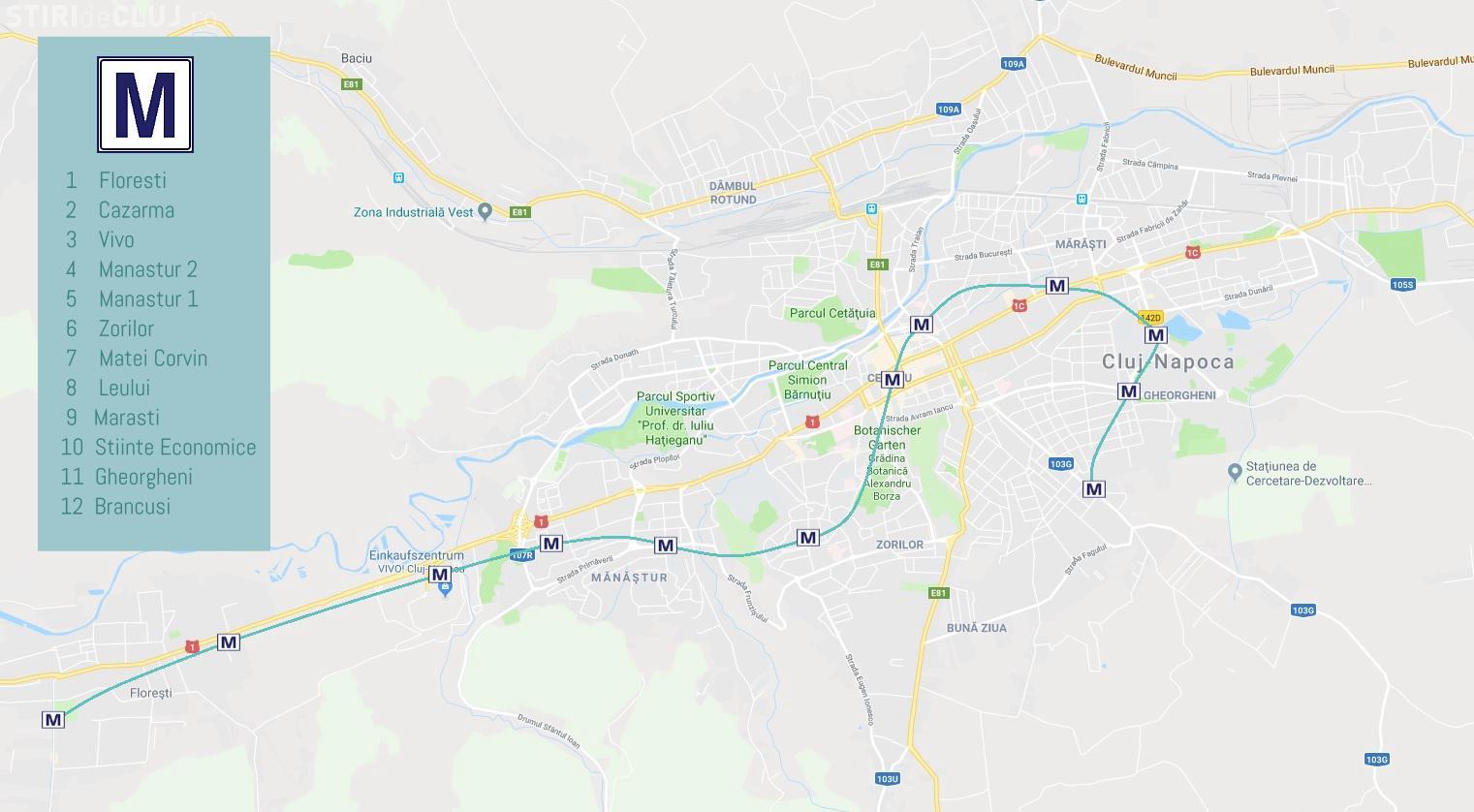 Planul Metroului La Cluj Napoca Traseu și Harta Stațiilor