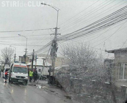 Muncitor electrocutat la Cluj-Napoca. A ajuns la spital în stare critică FOTO