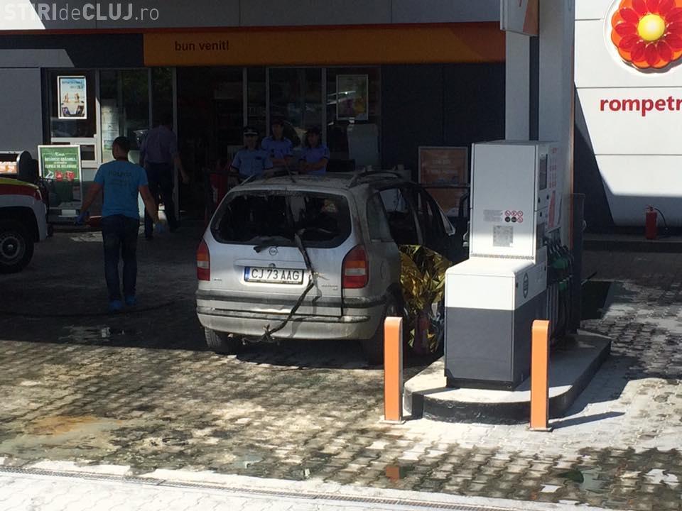 Un bucureștean și-a dat foc la Cluj, în benzinăria Rompetrol