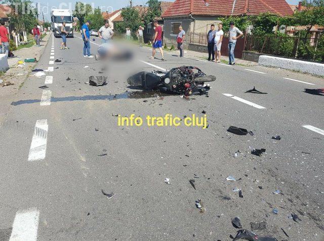 Accident mortal pe drumul Cluj - Oradea. Un motociclist și-a pierdut viața FOTO