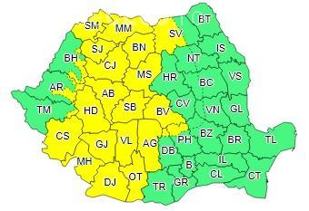 Clujul și aproape jumătate din țară sub cod galben de ploi. Ce anunță meteorologii