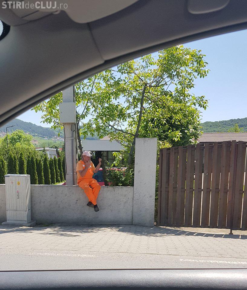Floreștiul blocat pentru că CNAIR peticesc drumul - FOTO