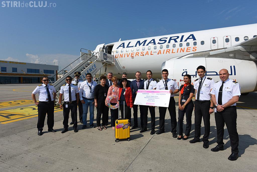 S-au lansat zborurile de pe Aeroportul Cluj spre Hurghada. Vezi cu ce frecvență se zboară