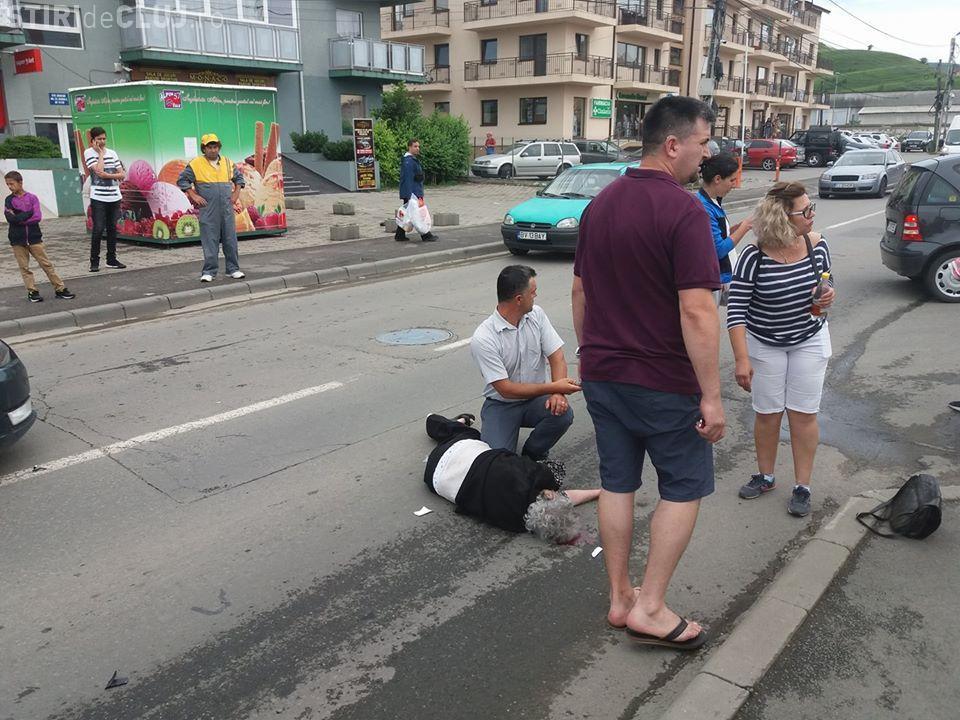 Accident în Florești, pe strada Eroilor! Victima a fost proiectată câțiva metri - FOTO