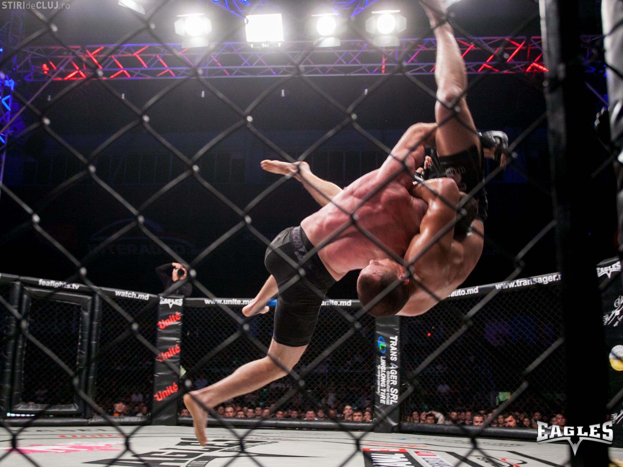 Performanță importantă în sportul clujean! Luptătorul Bogdan Barbu a cucerit centura Eagles Fighting Championship la Chișinău FOTO
