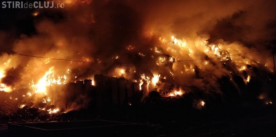 Rampa de gunoi a Primăriei Cluj-Napoca a luat foc! Mister total - FOTO