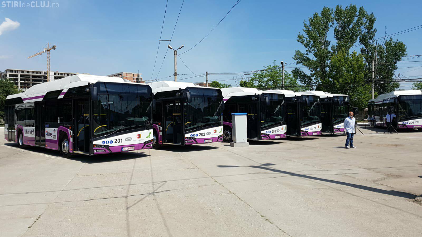 Noile autobuze electrice se dau în folosință la Cluj. Vezi cum arată FOTO/VIDEO