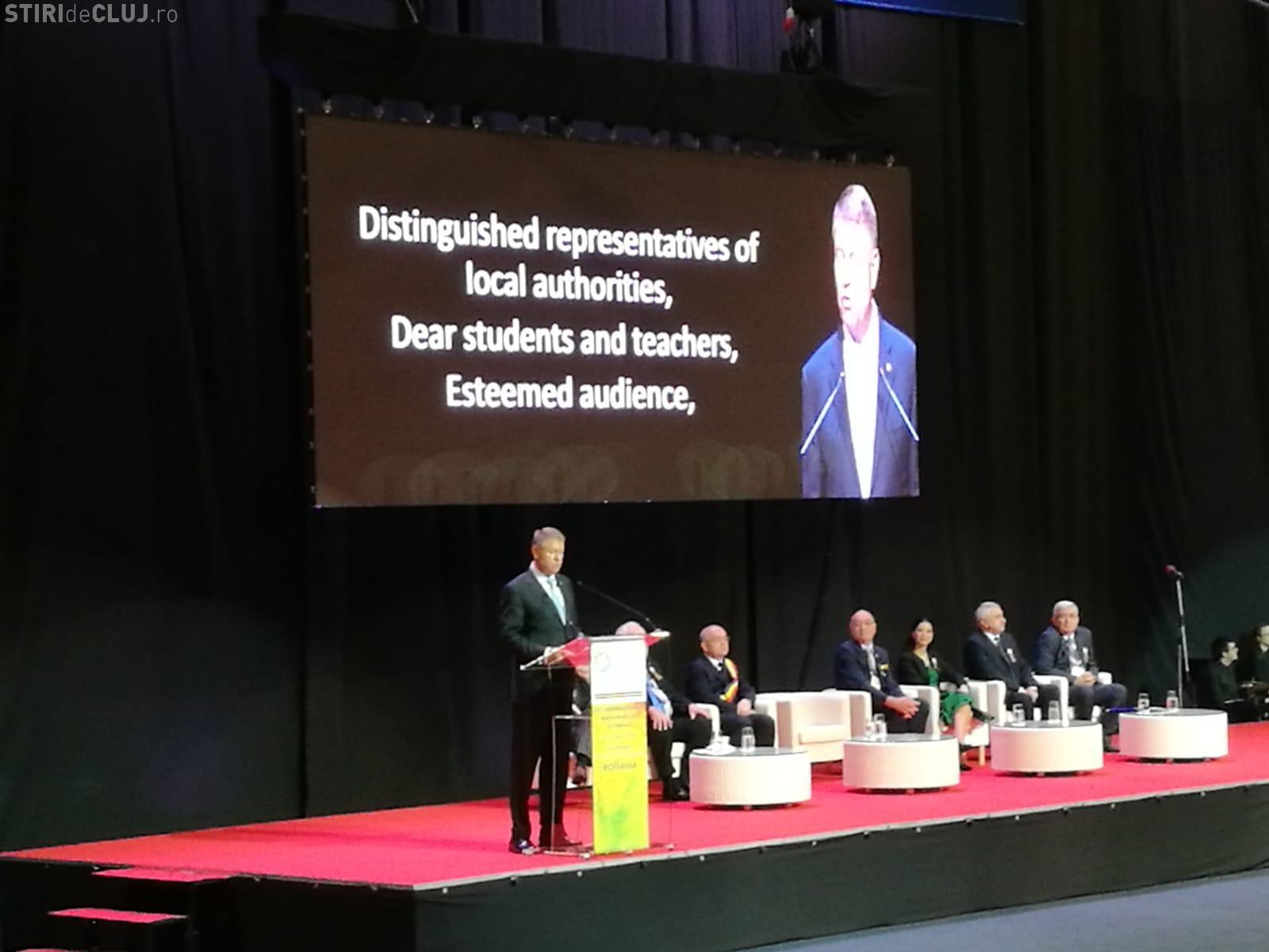 Mesajul lui Klaus Iohannis la deschiderea Olimpiadei Internaționale de Matematică de la Cluj