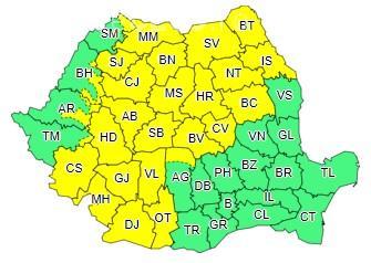 Un nou avertisment de furtuni în Cluj și aproape jumătate din țară! Vezi cât va mai ploua