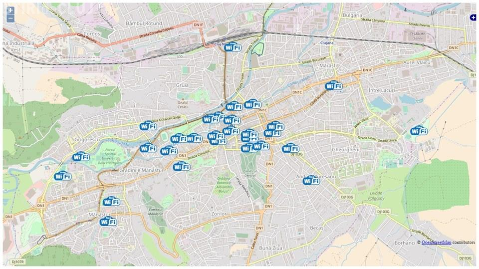 Rețeaua de Wi-Fi gratuit din Cluj-Napoca se extinde. Vezi unde poți avea internet gratis