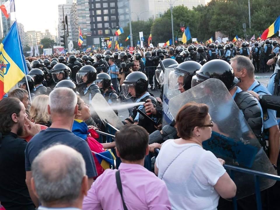 Ghidul oficial al MAI: Jandarmii nu au voie să dea cu spray în față și să lovească în cap
