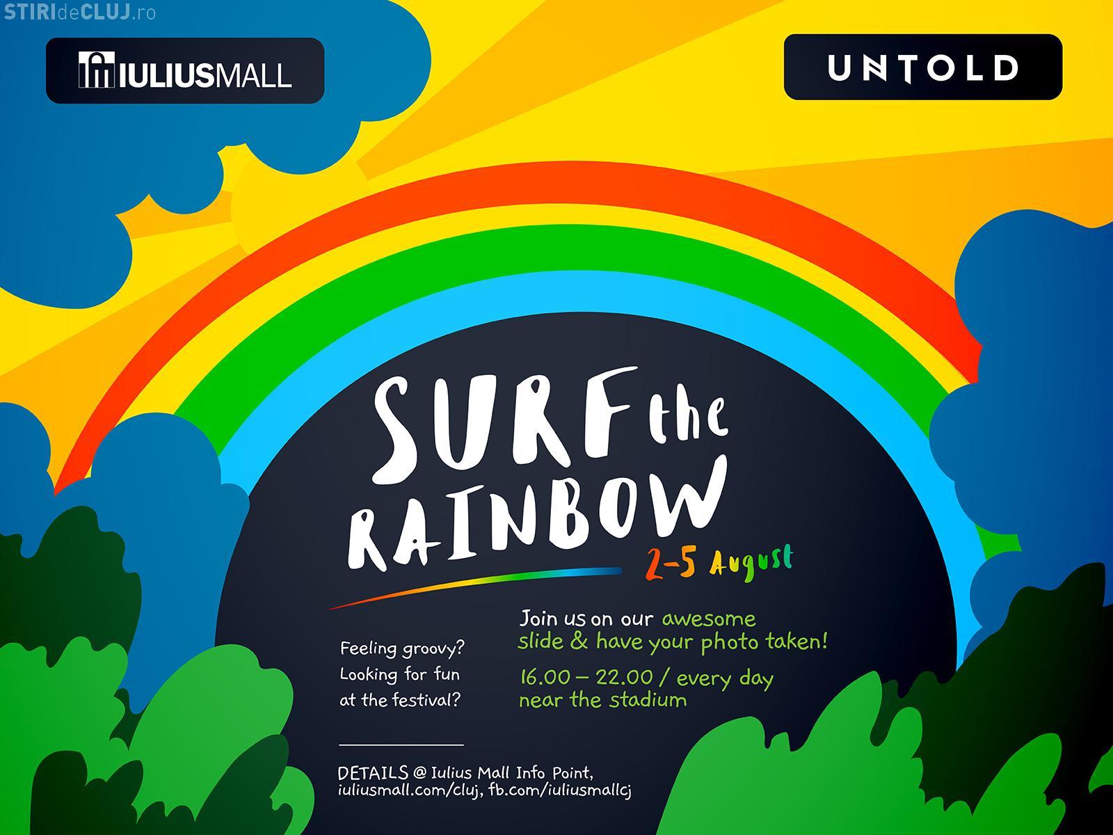 """SURF THE RAINBOW"" - Iulius Mall te invită la o petrecere colorată, la UNTOLD"