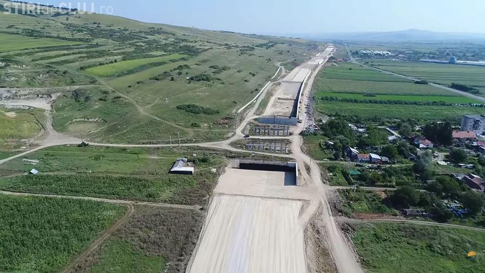 Filmare aeriană cu lotul 2 al autostrăzii Sebeș - Turda - VIDEO