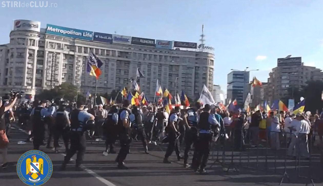 Jandarmii au prezentat un clip cu versiunea lor asupra incidentelor din 10 august - VIDEO