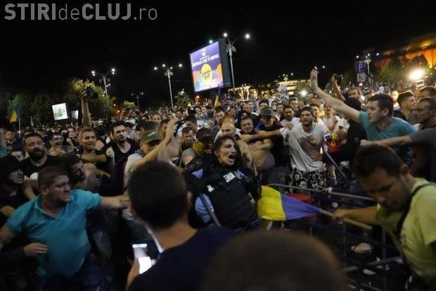 Jandarmerița bătută în București și-a certat colegii - VIDEO