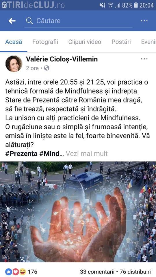 Soția fostului premier Cioloș a făcut o meditație Mindfulness pentru România