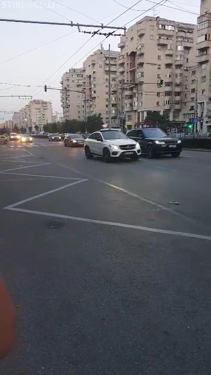 Cluj-Napoca: Nesimțiți cu mașini de lux. Ce au făcut șoferii? - VIDEO