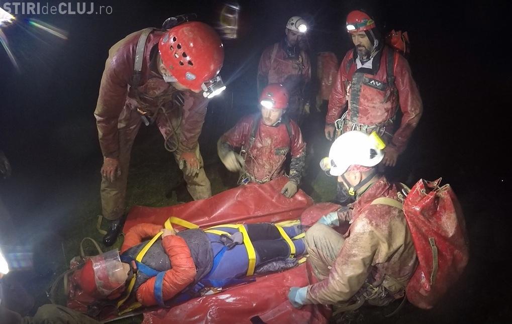 Exercițiu internațional de salvare din peșteră, în Munții Bihor-Vlădeasa - FOTO