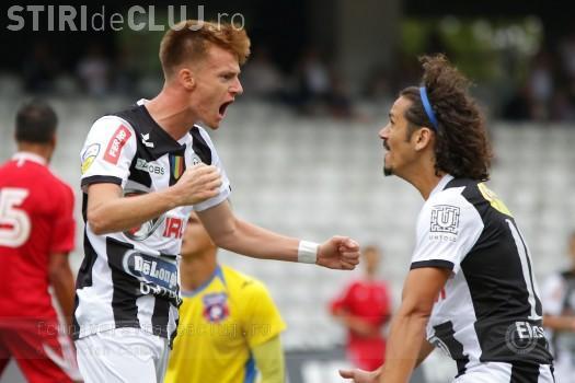 U Cluj a bătut Aerostar, scor 3-2. Fanii l-au CERTAT pe Falub