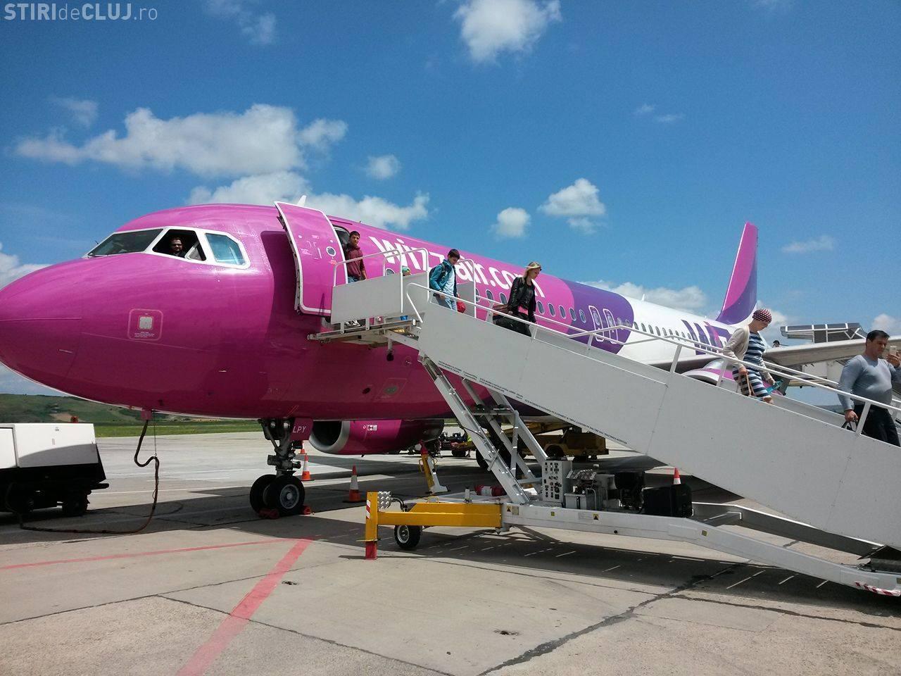 Wizz Air renunță la zborul București - Cluj