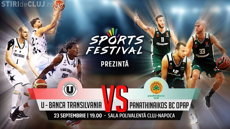 Sports Festival Cluj: U-BT vs Panathinaikos în Sala Polivalentă