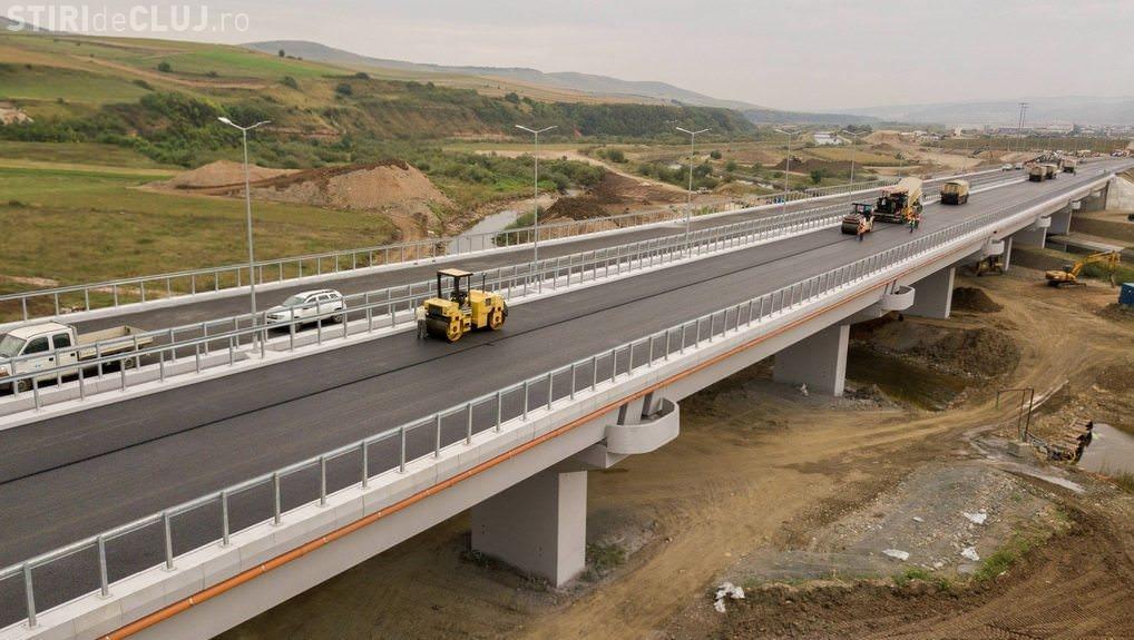 Podul de la Gilău este terminat în proporție de 90%