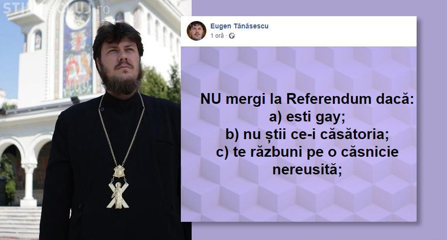 """Purtătorul de cuvânt al Arhiepiscopiei Tomisului: """"Nu mergi la Referendum dacă ești gay"""""""