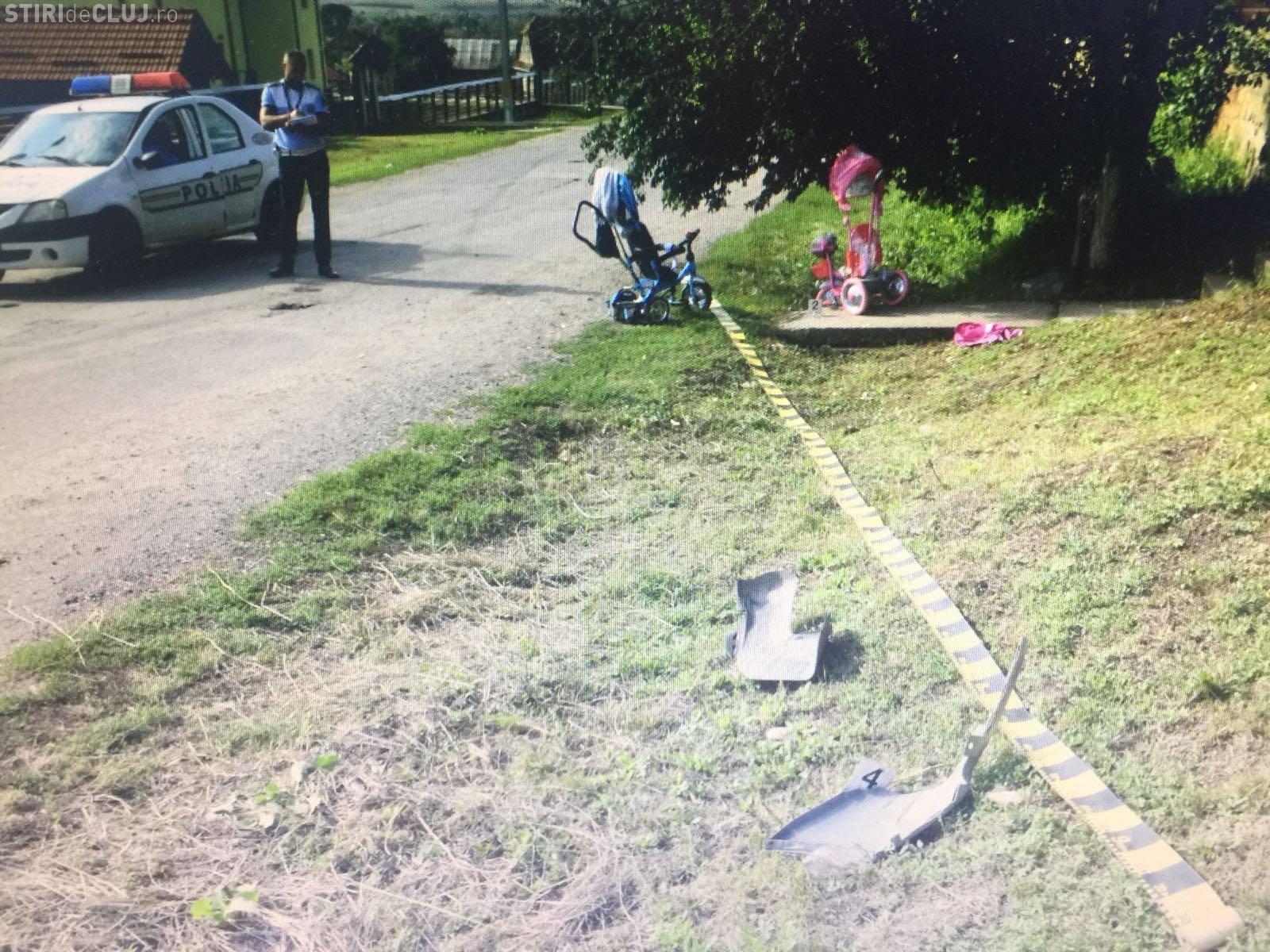 Accident GRAV la Borșa (Cluj). Un șofer beat a spulberat o mamă și pe fiica acesteia - FOTO