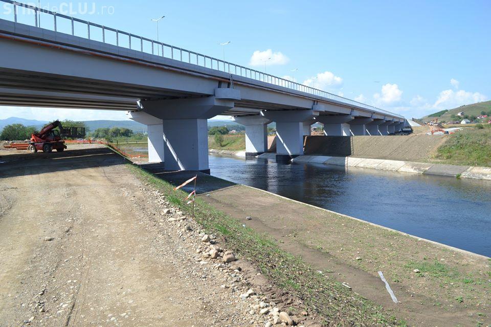 Imagini cu podul de la Gilău, care va SUDA Autostrada Transilvania - FOTO
