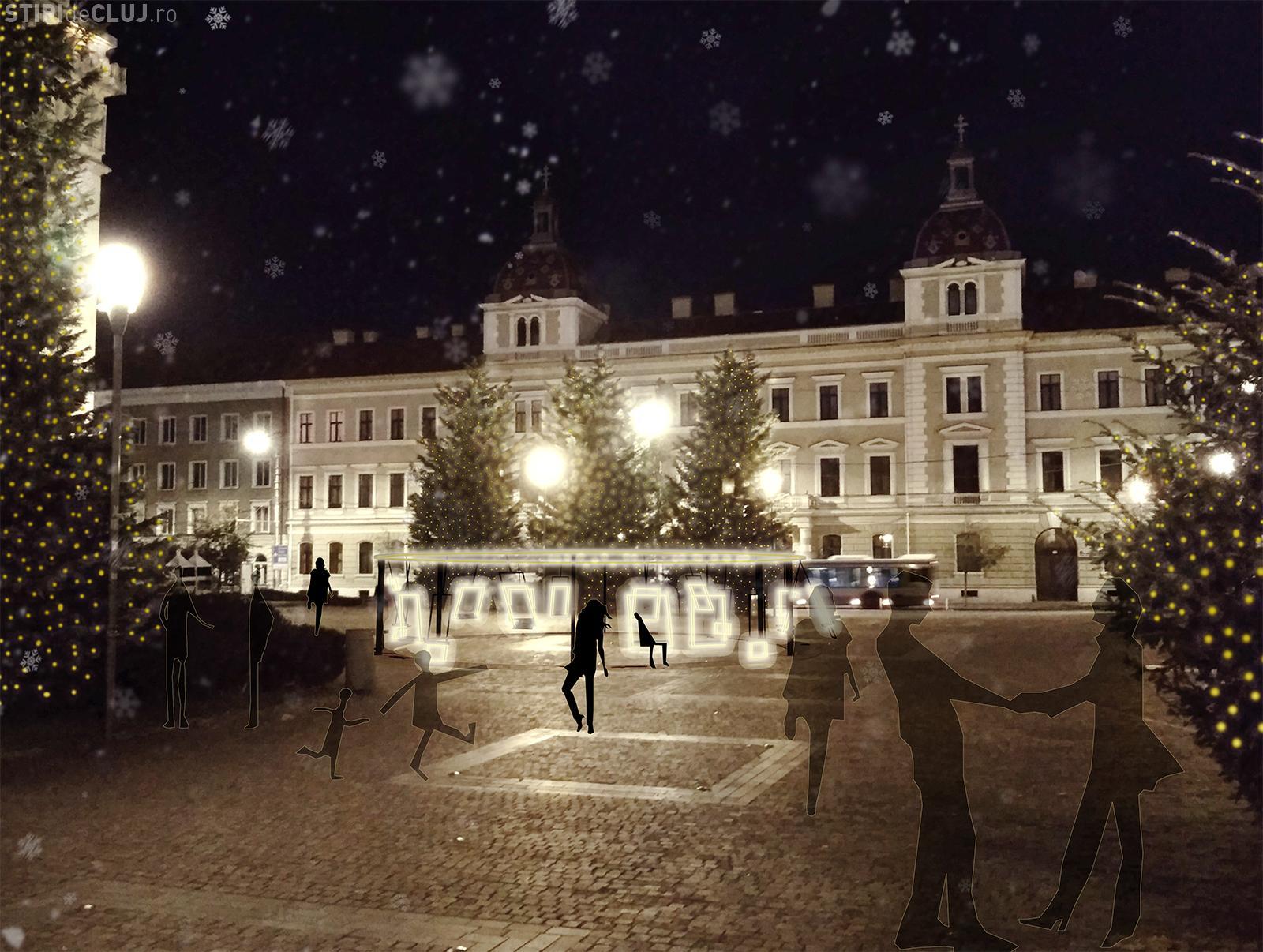 """Concursul Lights ON Cluj-Napoca a fost câștigat de proiectul """"SWING WITH LIGHT"""""""