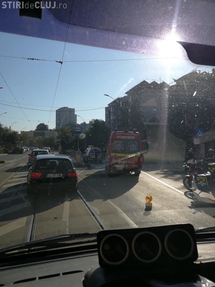 Pieton lovit pe trecere pe strada Plopilor din Cluj! A ajuns la spital FOTO