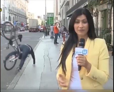 Viață grea mai au și reporterii de televiziune - VIDEO