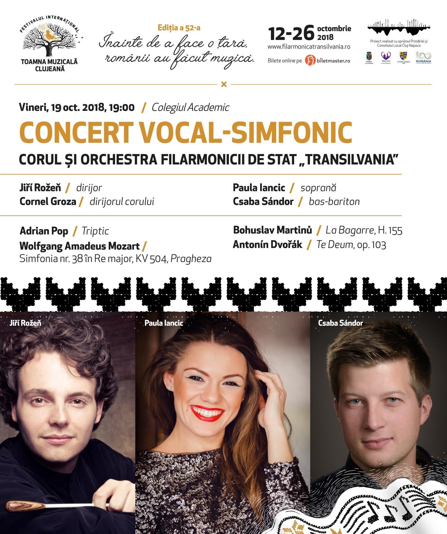 """Festivalului Internațional """"Toamna Muzicală Clujeană"""" are loc în perioada 12 - 26 octombrie"""