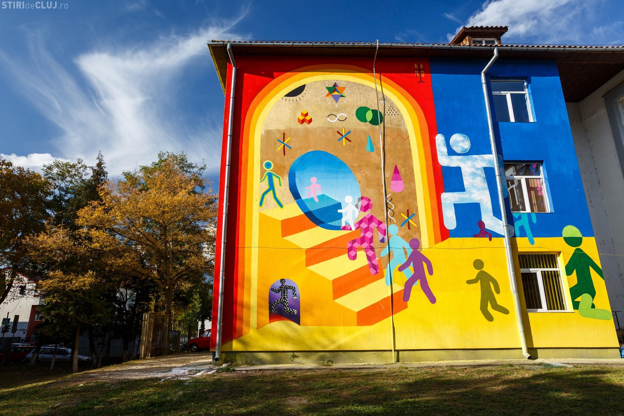 """""""Artă în curtea școlii – Lăsați artiștii stradali să coloreze Clujul"""" - FOTO"""