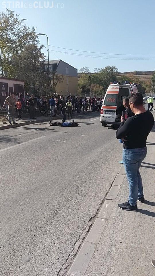 Accident grav la Cluj! Doi pietoni au fost loviți pe trotuar de un șofer fără permis FOTO