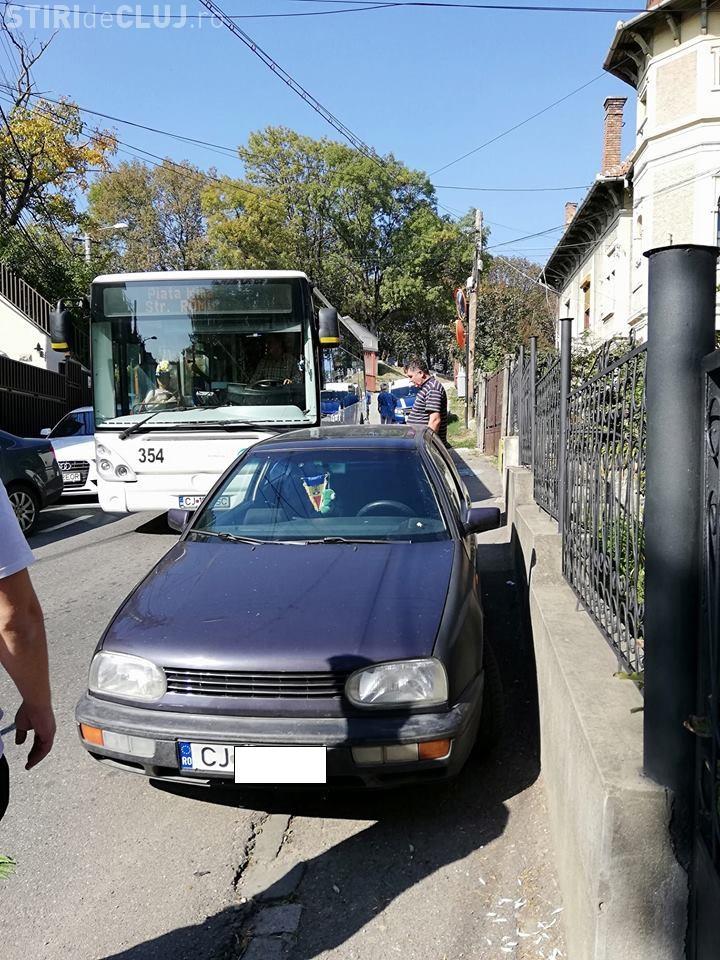 Cluj: Un șofer a blocat autobuzul mai bine de o oră