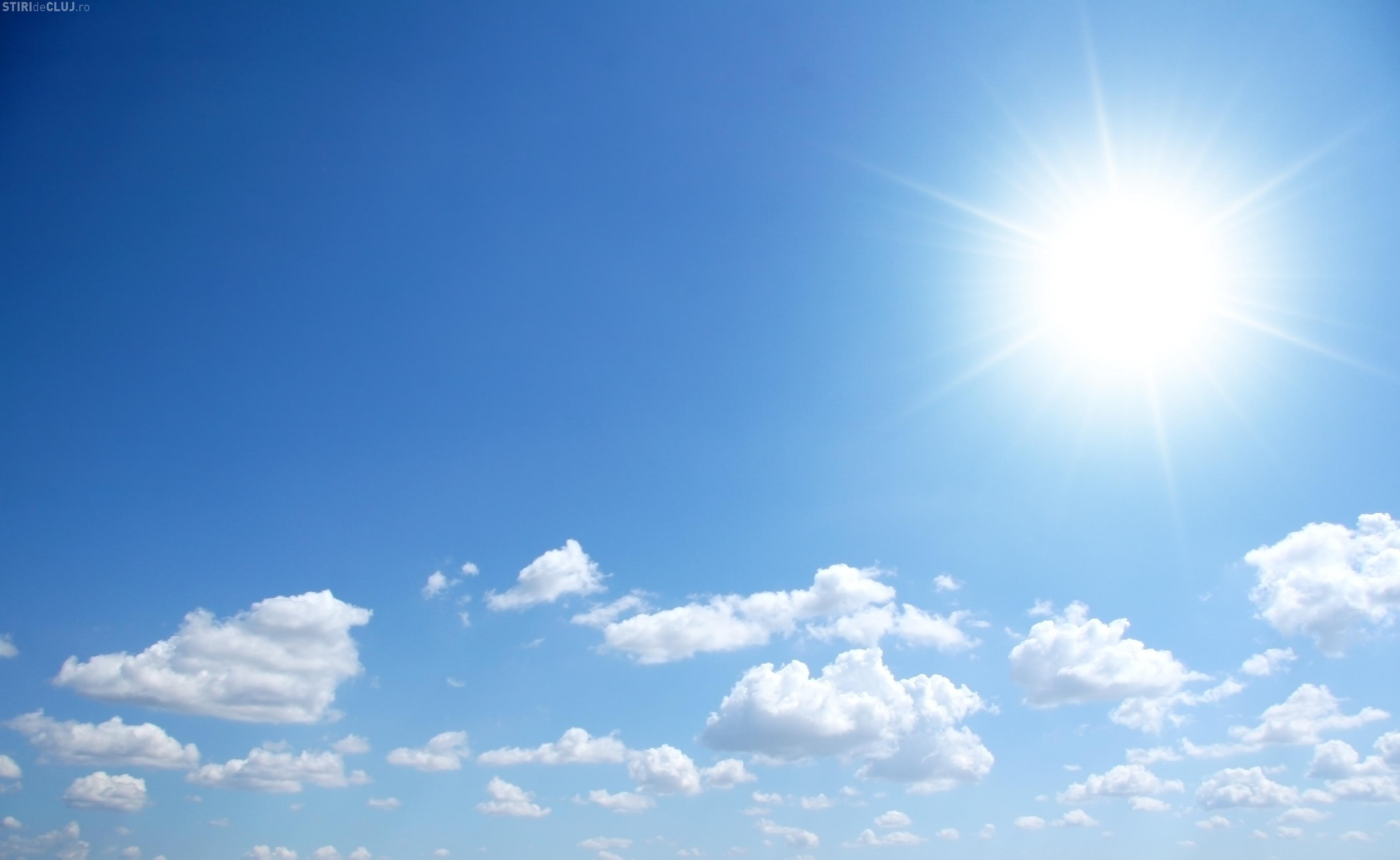 Încă o săptămână de vreme caldă la Cluj. Ce anunță ANM