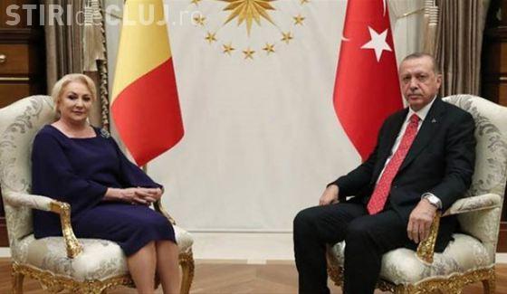 Premierul Dăncilă s-a întâlnit cu președintele Turciei