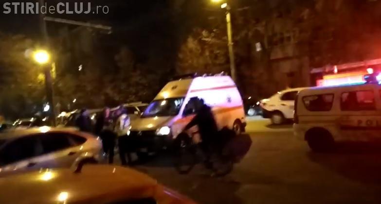 Accident pe Nicolae Titulescu, în Gheorgheni. Motociclist lovit de un autoturism - FOTO