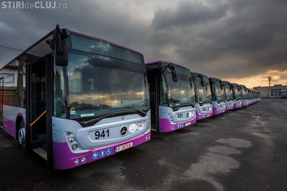 Primăria anunță achiziția a altor 60 de autobuze Mercedes pentru transportul public din Cluj-Napoca. Când se livrează FOTO