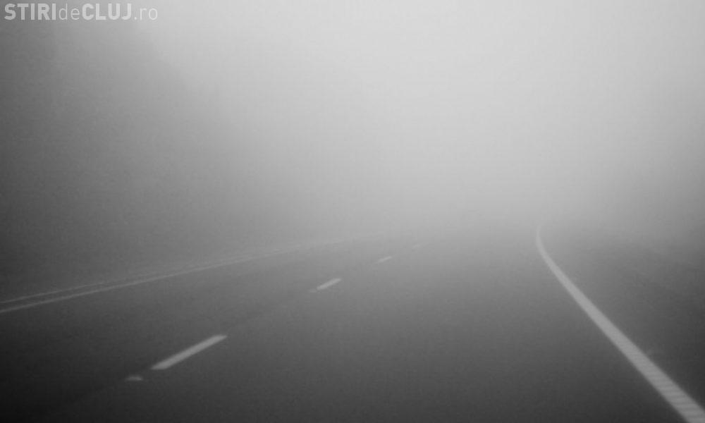 Clujul, pentru a doua zi sub cod galben e ceață. Ce anunță meteorologii