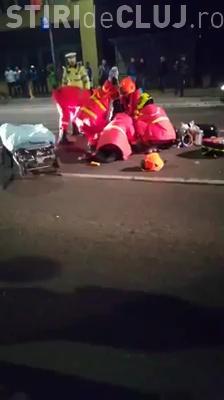 Accident grav în Florești, lângă Volvo! A MURIT pietonul lovit de taxi - VIDEO