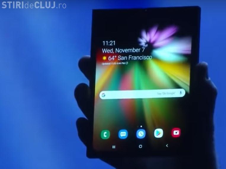 VIDEO: Samsung a prezentat telefonul pliabil, cu ecran Infinity Flex