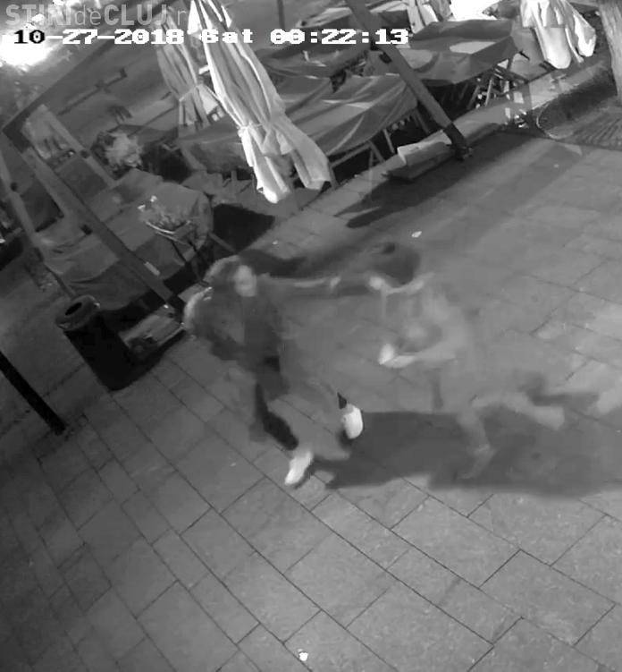 Franțuzoaice surprinse de camerele de supraveghere după ce a mâncat și băut la un restaurant din Cluj și au fugit fără să plătească