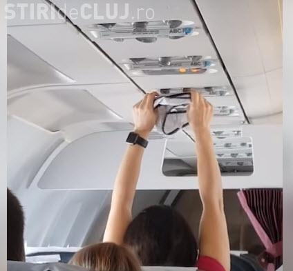 A uscat o pereche de chiloți în avion, la instalația de aer condiționat - VIDEO