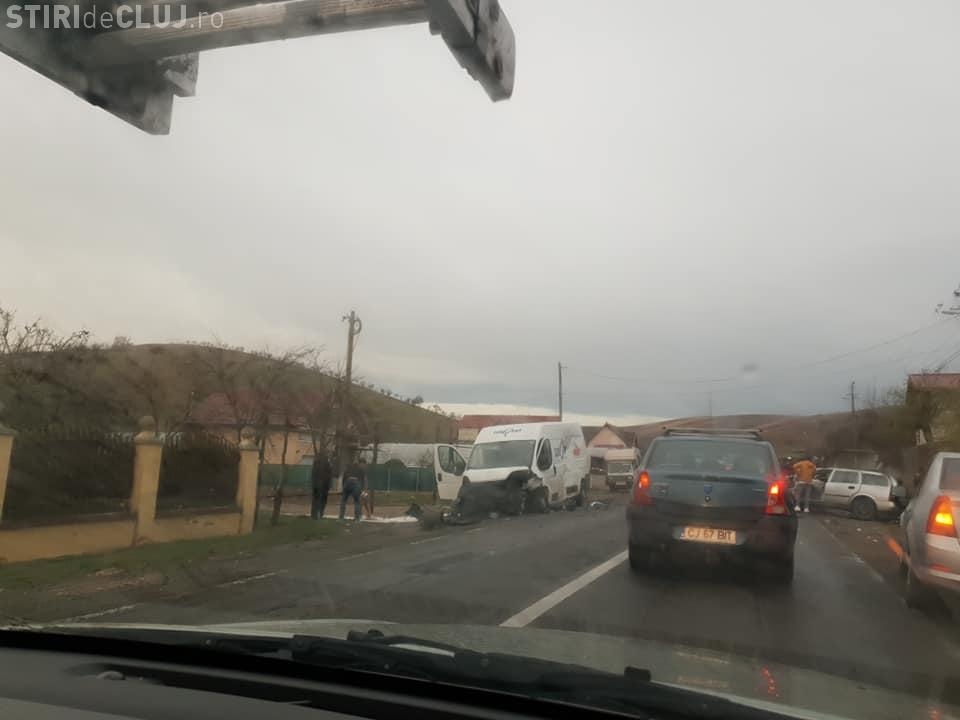 Accident cu două victime pe un drum din Cluj FOTO