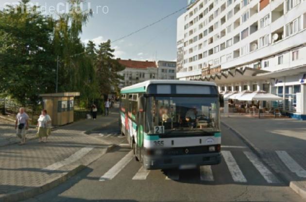 Stația de autobuz de la Cinema Florin Piersic se mută provizoriu