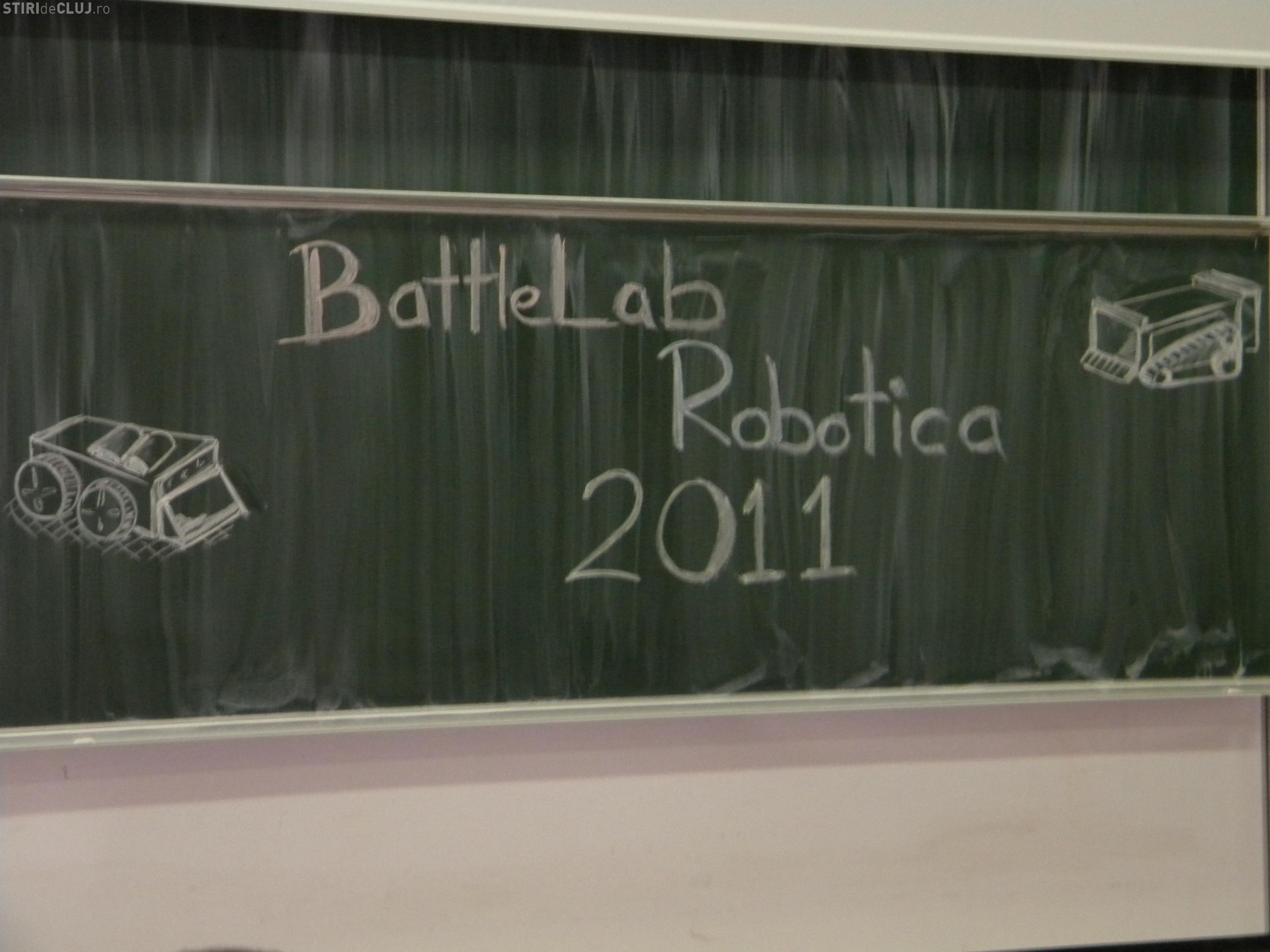BattleLab Robotica 2011 sau sumo cu roboti la UTCN - VIDEO si FOTO