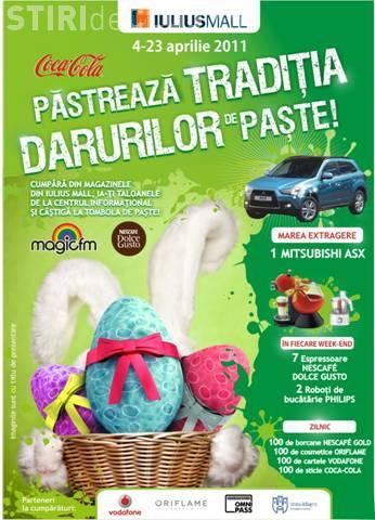 Iepurasul de Paste aduce la Iulius Mall Cluj 8.000 de premii