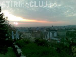 Doi sori fotografiati deasupra Clujului! VEZI FOTO si explicatiile astronomilor
